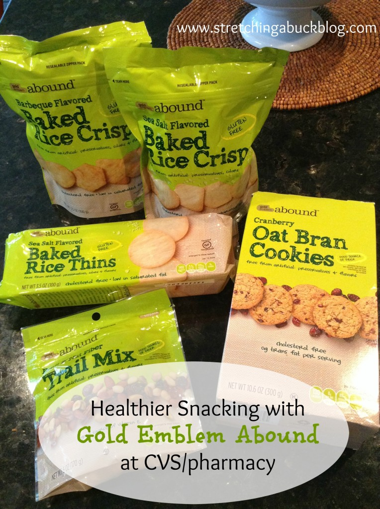 healthier snacking gold emblem abound cvs pharmacy