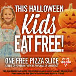 Thumbnail image for Sbarro Free Pizza Halloween Offer