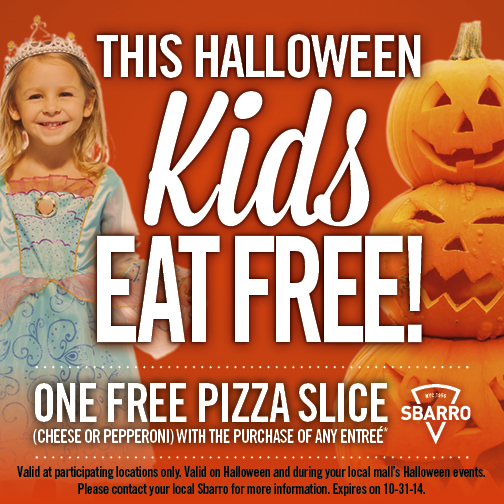 Sbarro Halloween Offer