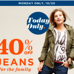 Thumbnail image for Old Navy Sale Save 40% on Jeans for The Whole Family