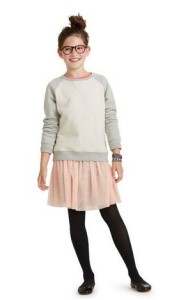 tea collection color block older girl sweater