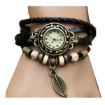 Thumbnail image for Fashion Weave Wrap Around Leather Watch Bracelet for $3.89 Shipped