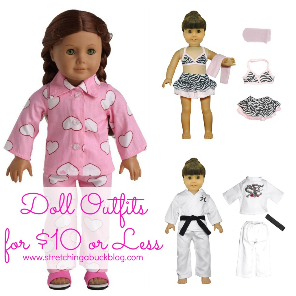 american girl doll outfits for 10 dollars or less