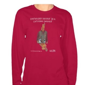 bacon ugly christmas sweater for women