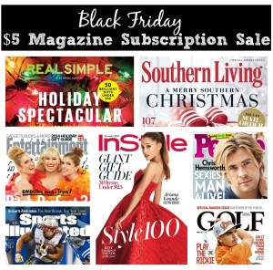 black friday magazine subscription deal