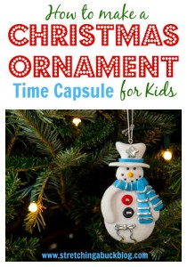 how to make a christmas ornament time capsule for kids