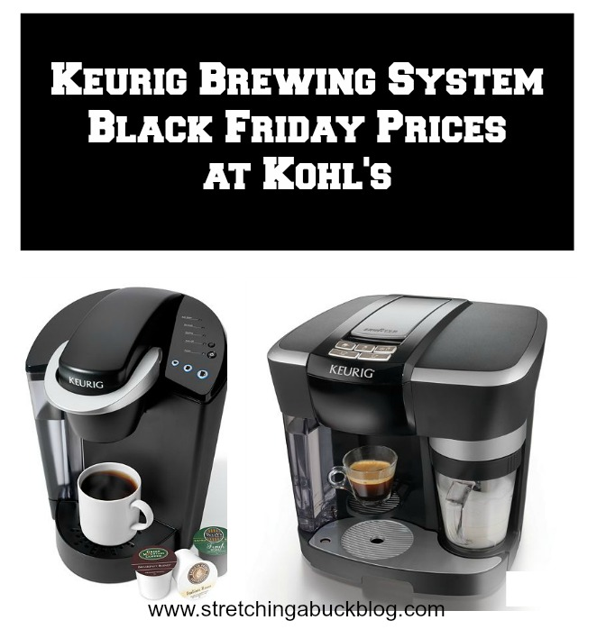 keurig brewing system black friday prices kohls