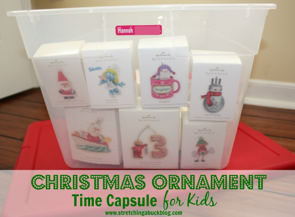 make a christmas ornament time capsule for kids