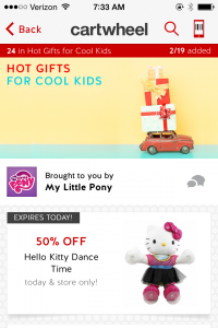 target 50 off toy coupon