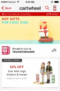 target cartwheel toy coupon
