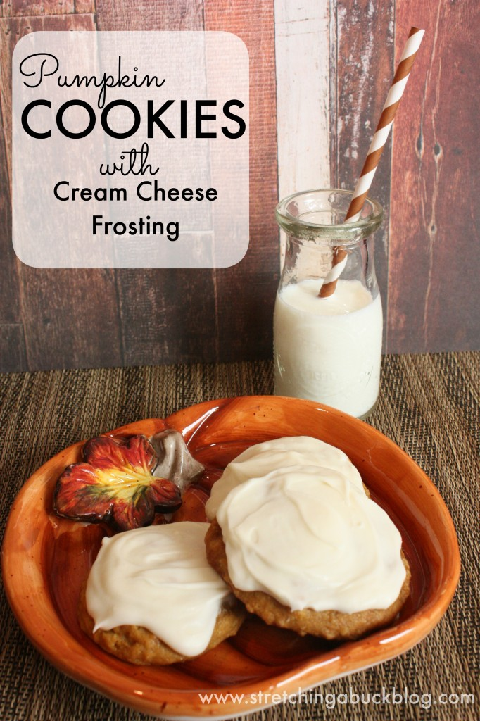 The Best Pumpkin Cookies with Cream Cheese Frostin…