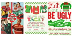 zazzle ugly christmas sweater party invites
