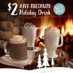 Thumbnail image for Caribou Coffee Coupon | Medium Holiday Drinks for $2 Today (12/3)