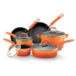 Thumbnail image for Rachael Ray Hard Enamel Nonstick 10-Piece Cookware Set for $96.99 Shipped