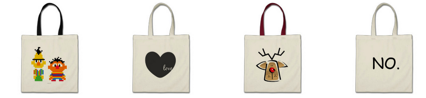 zazzle custom tote bags
