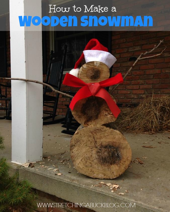 how to make an easy wooden snowman