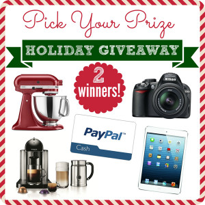 holiday giveaway prize pack