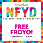 Thumbnail image for Free Menchie's Frozen Yogurt Tomorrow from 4-8 pm (2/6/15)