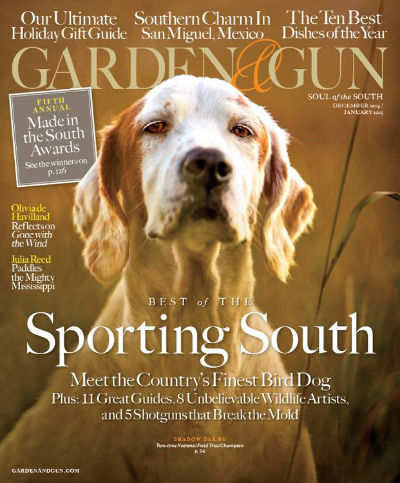 Garden And Gun Cover December January 2015 Issue