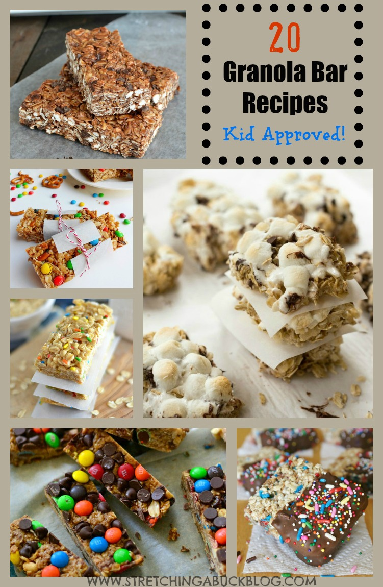 Kid Approved Granola Bar Recipes