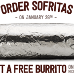 Thumbnail image for Buy 1 Get 1 FREE Chipotle Deal