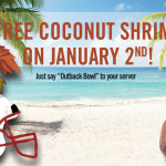 Thumbnail image for Free Coconut Shrimp at Outback Steakhouse Today (1/2)