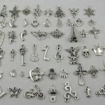 Thumbnail image for 50 Piece Silver Plated Tibetan Pendants/Charms Set for $6.49 Shipped
