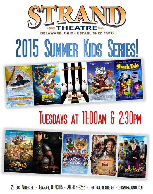 strand theater kids summer movie series