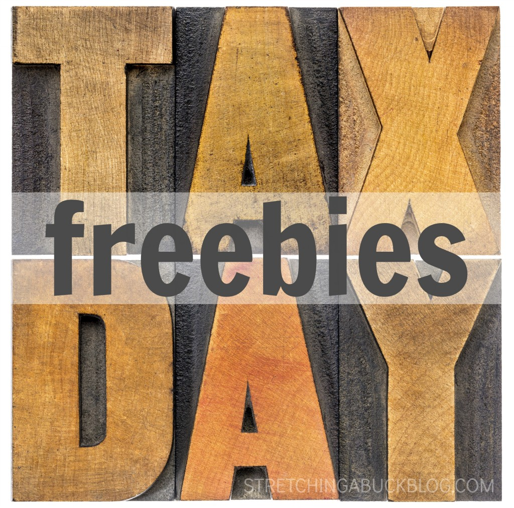Freebies for tax day