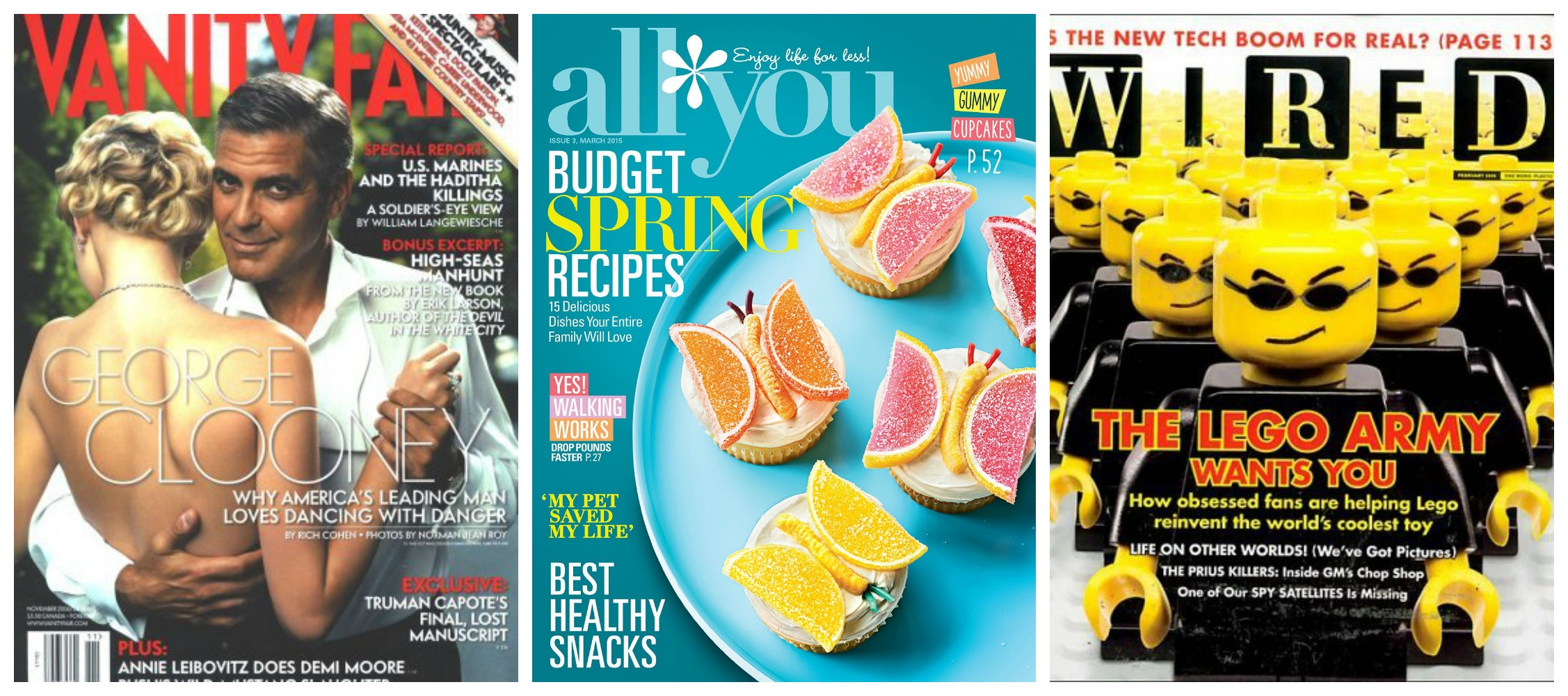 All You, Wired and Vanity Fair Magazine Deals - Stretching a Buck ...