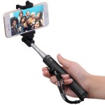 Thumbnail image for Selfie Stick with Bluetooth Remote for iPhone and Samsung Galaxy for $13.99