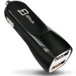 Thumbnail image for Dual-Port Car Phone Charger for $7.95