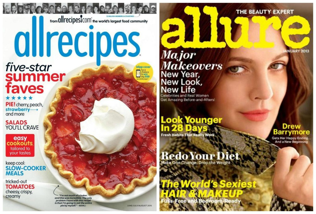 all recipes allure magazine subscription deals