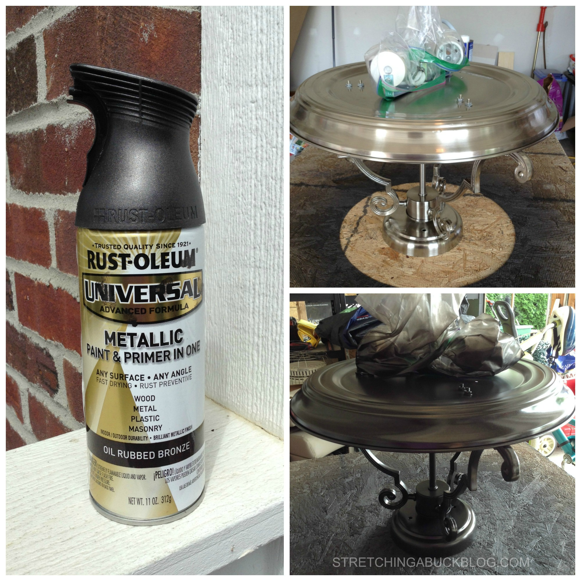 Spray paint your light fixtures and save big stretching a buck how to paint your light fixtures with spray paint arubaitofo Choice Image