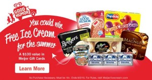 meijer ice cream sweepstakes