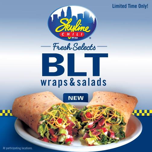 New Skyline Chili BLT Wraps and Salads + a $25 Gift Card Giveaway ...