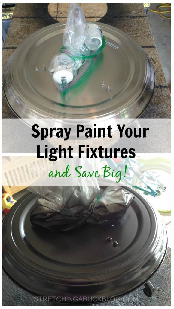 spray paint your light fixtures and save big
