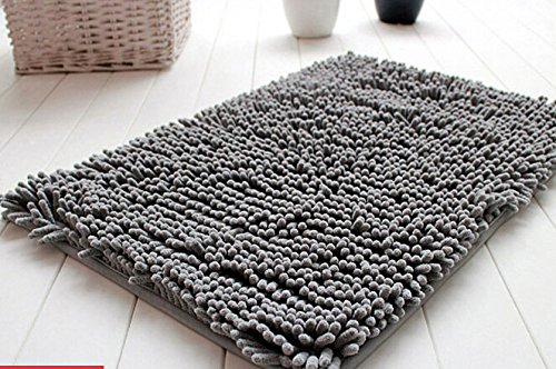 Great On Amazon right now you can get this nice Soft Shaggy Non Slip Absorbent Bath Mat Bathroom Shower Rugs Carpet Grey for just