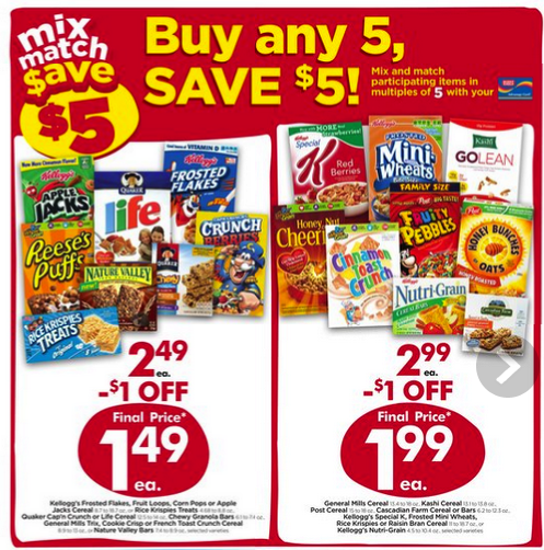 giant eagle cereal coupons
