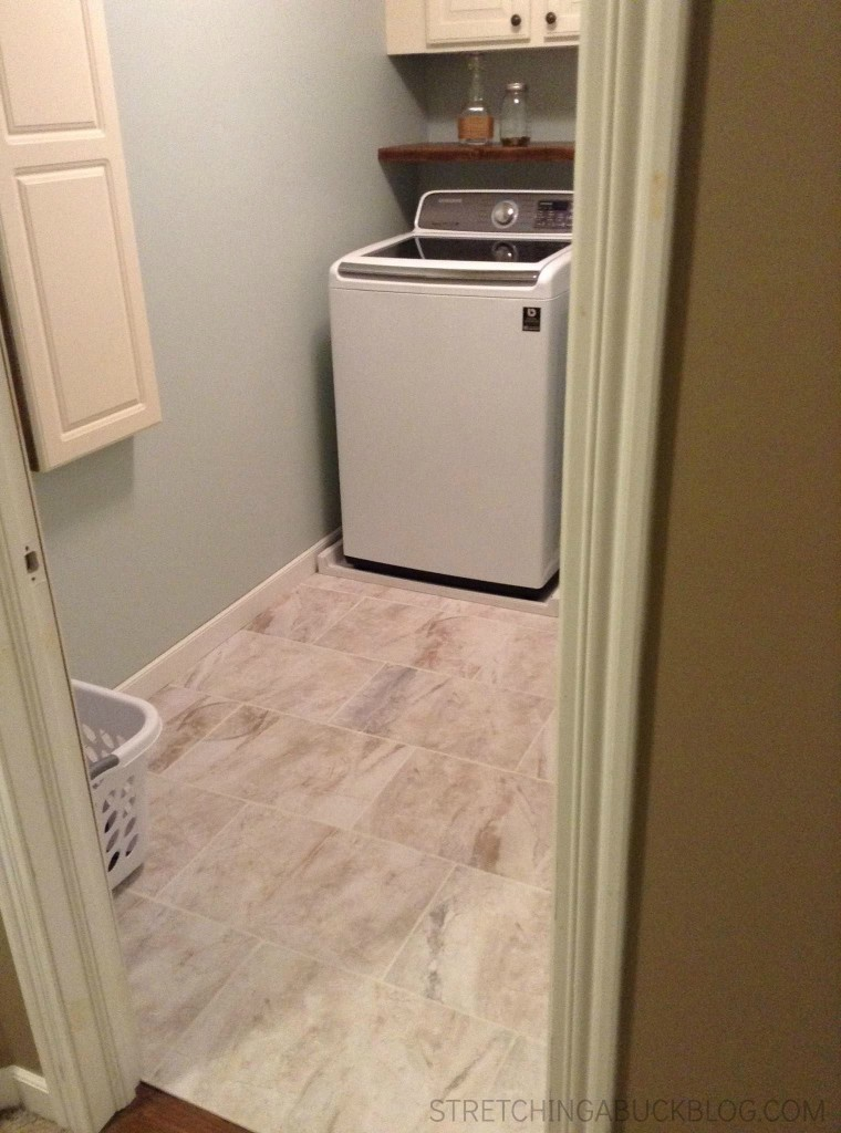 diy laundry room makeover floors