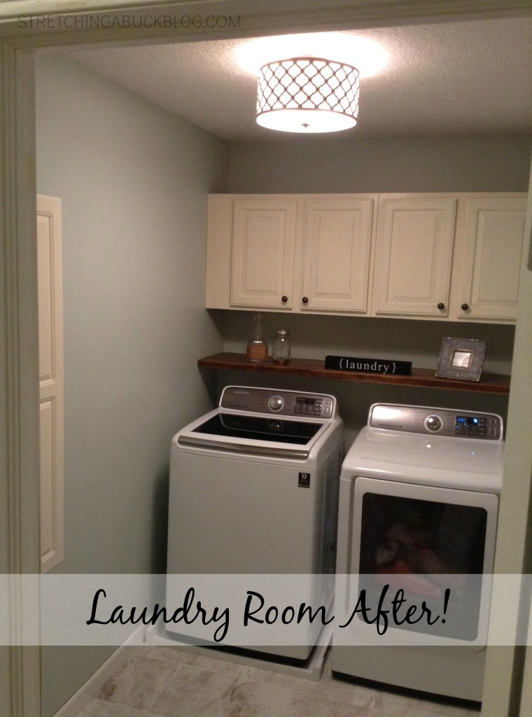 diy laundry room project after pictures
