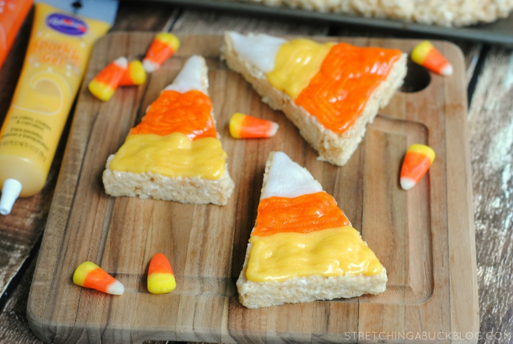 how to make candy corn rice krispies treats