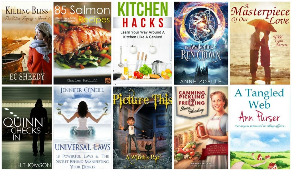 10 Free Kindle Books 9-8-15