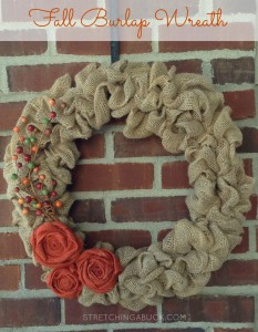 Fall Burlap Wreath 2015