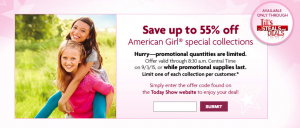 american girl today show deal