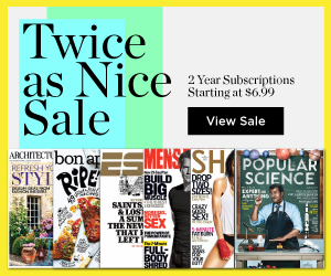 magazine subscription sale