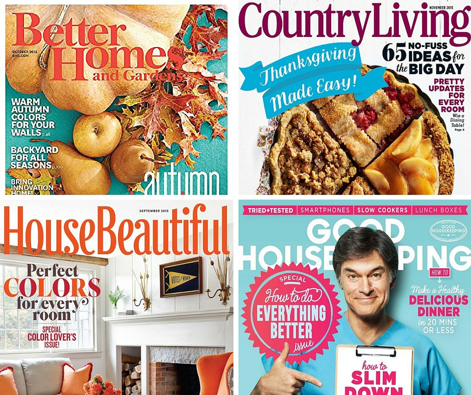 5 Magazines Country Living Better Homes Gardens