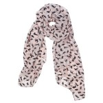 Thumbnail image for Pink Soft Chiffon Black Cat Print Scarf for $2.14 Shipped