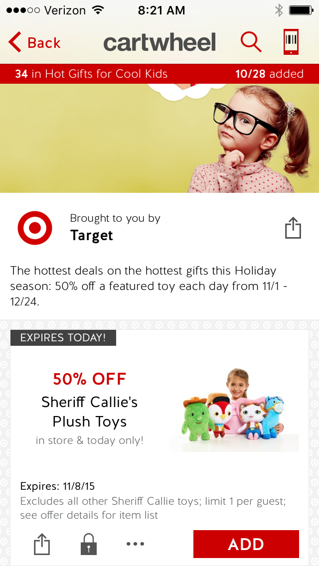c0e5d044966 Target Cartwheel 50% Off Toy of the Day   11/8/15 - Stretching a ...