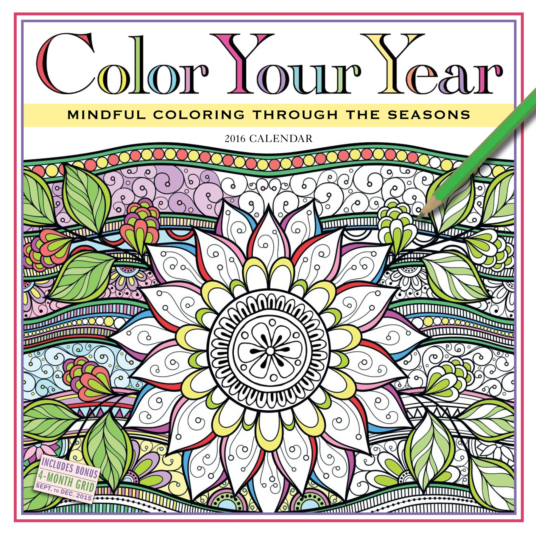 Color Your Year 2016 Calendar for $9.27 | Great Gift Idea ...
